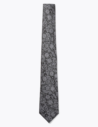 Marks and Spencer Slim Paisley Silk Tie Made with Swarovski Elements