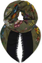 Gucci Floral Wool And Silk-blend Scarf