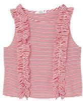 MANGO Ruffle striped top