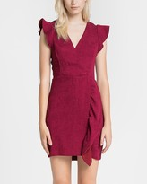 Express Endless Rose Ruffle Detail Mini Dress