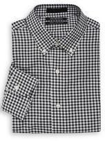 Saks Fifth Avenue Oxford Gingham Slim-Fit Dress Shirt