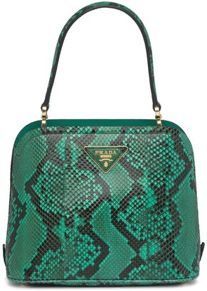 Prada micro Matinee python leather handbag