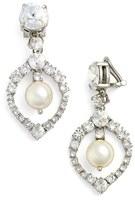 Miu Miu Women's 'Classic' Crystal & Faux Pearl Drop Earrings