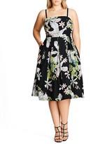 City Chic Emerald Spring Dress