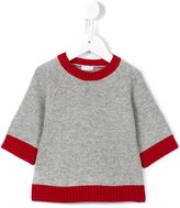 Il Gufo knitted trim sweatshirt