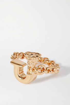 Chloé Alphabet Gold-tone Ring - A