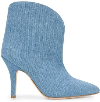 Paris Texas point-toe denim ankle boots