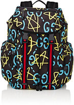 Gucci Men's GucciGhost-Print Backpack-BLACK