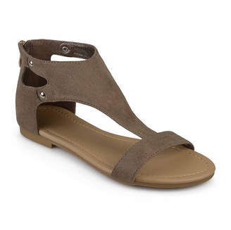 Journee Collection Womens Bevin T-Strap Flat Sandals