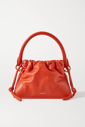 Yuzefi Bom Mini Leather Tote - Bright orange