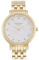 Kate Spade Women's 'Monterey' Crystal Dial Bracelet Watch, 38Mm