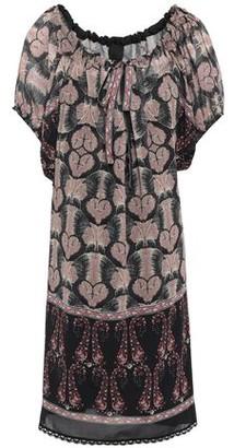 Anna Sui Lace-trimmed Printed Chiffon Mini Dress