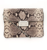 Sloan Oversized Clutch Python Embossed