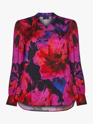 Live Unlimited Digital Floral Blouse, Pink/Multi