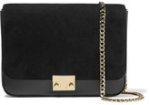Loeffler Randall Lock Leather And Nubuck Shoulder Bag - Black