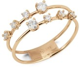 Lana 14K Yellow Gold & Diamond 2-Band Solo Crown Wire Ring