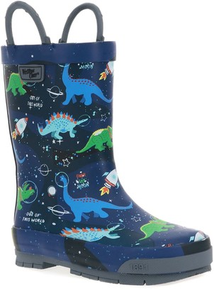 Western Chief Space Dinos Toddler Boys' Waterproof Rain Boots