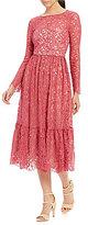 Adrianna Papell Lace Midi Sheath Dress