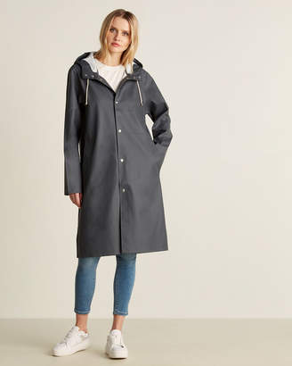 Stutterheim Charcoal Stockholm Long Raincoat