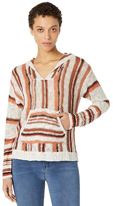 Rock and Roll Cowgirl Long Sleeve Stripe Hoodie with Pouch Pocket 48H8402