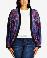 City Chic Trendy Plus Size Printed Cardigan