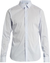 Valentino Button-cuff striped cotton-blend shirt