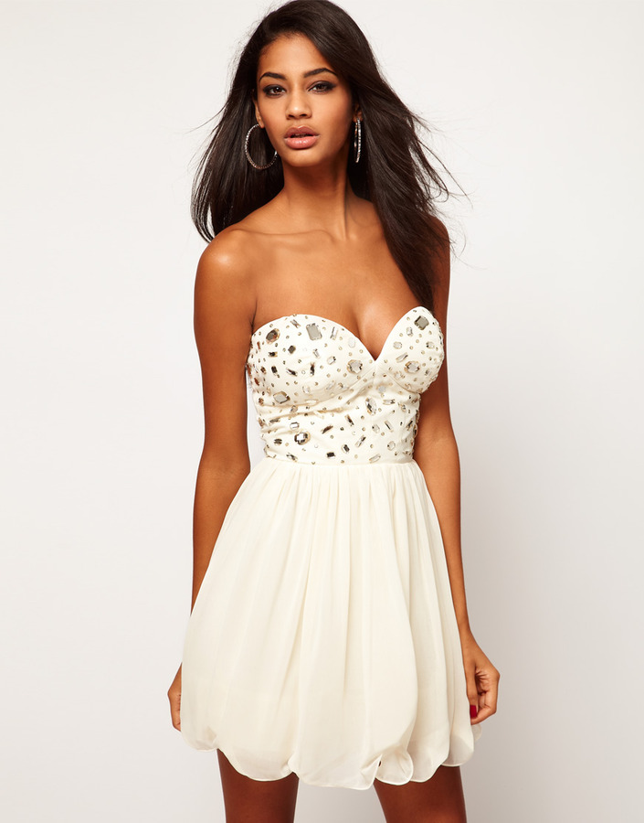 Lipsy Bandeau Dress With Embellishment