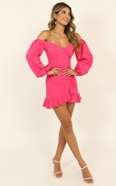 Showpo Cant Move On Dress in hot pink linen look - 4 (XXS) Dresses