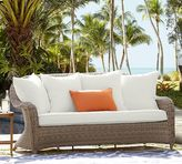 Pottery Barn Torrey All-Weather Wicker Roll-Arm Sofa - Natural