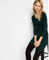 Express ribbed cross back sweater dress