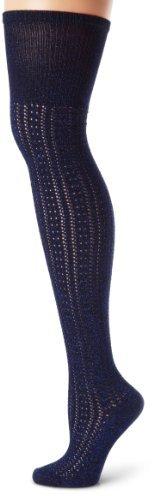 Steve Madden Legwear Women's Crochet Look Lurex Otk