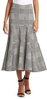 Silvia Tcherassi Bellia Plaid Flare Skirt