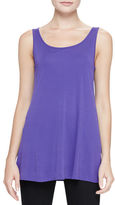 Eileen Fisher Jersey Sleeveless Scoop-Neck Tunic