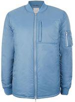 Topman LTD Blue Lightweight Puffer Bomber Jacket