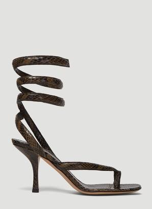 Bottega Veneta Spiral Strap Sandals