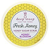 Deep Steep Deep Steep, Fresh Honey Sugar Scrub, Honey Blossom, 8 oz (226 g) - 3PC