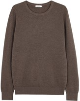 J.lindeberg Dexter Brown Textured-knit Cotton Jumper
