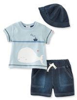 Absorba Baby's Three-Piece Top, Shorts & Hat Set