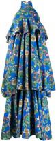 La DoubleJ tiered floral maxi dress