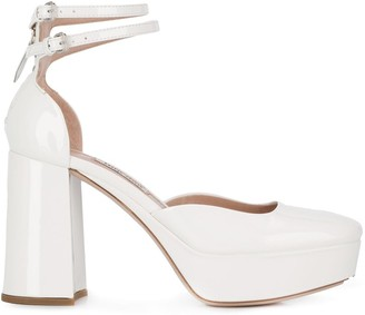 Miu Miu double strap platform pumps