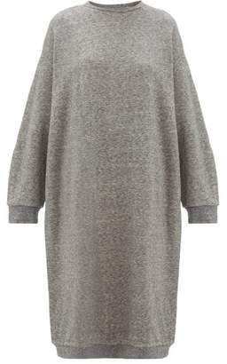 Raey Oversized Cotton-blend Midi Dress - Womens - Grey