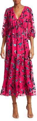Tanya Taylor Dulce Floral Tiered Ruffle Dress