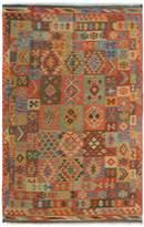 Arshs' Fine Rugs Kilim Arya Edison Flatweave Hand-Woven Wool Southwestern Rug