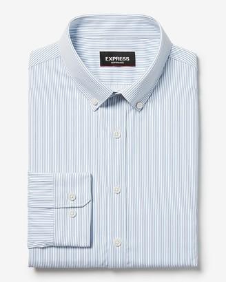 Express Slim Stripe Button-Down Wrinkle-Resistant Performance Dress Shirt