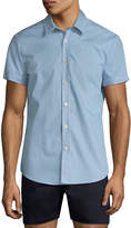 Parke & Ronen Men's Printed Cotton Sportshirt