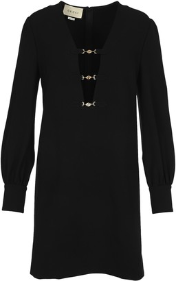Gucci Deep V-Neck Dress