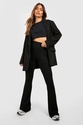 boohoo High Waist Basic Fit + Flare Trouser