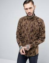 Asos Regular Fit Shirt With Tree Bark Camo Print