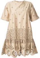 Sea exploded eyelet T-shirt dress - women - Cotton - 4
