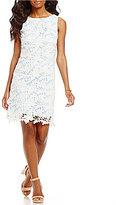 Eliza J Illusion Lace Sheath Dress